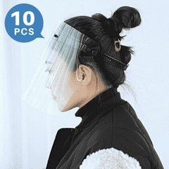 Lightweight Full Face Shield for Eye Face Protection Adjustable(10 PCS)