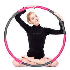 Foam Hula Hoop 8-Section Splicing Detachable Exercise Fitness Hoop