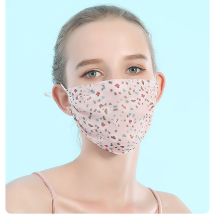 2-Ply Mulberry Silk Mask Sunscreen & Breathable Fashion Mask