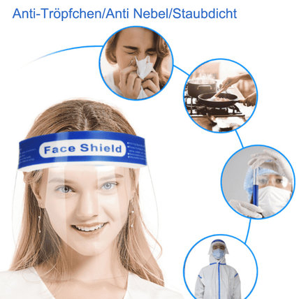 Safety Face Shield Transparent Full Face Breathable Face Shield(10 PCS)