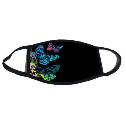 Unisex Cloth Mask Fashion 3D Digital Printed Dustproof Washable