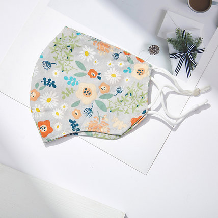 Fashion Floral Cotton Face Mask Washable Breathable Outdoor Protective