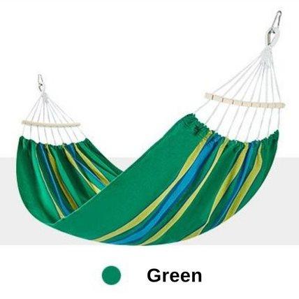 Single Outdoor Cotton Hammock Hanging Swing Bed