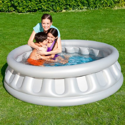 Children Paddling Inflatable Pool Space Ship Round Pool