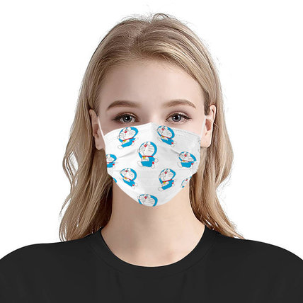 3-ply Disposable Protective Face Mask Ear loop Pleated Floral(50 PCS)