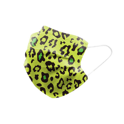 Multicolor Leopard Print Disposable Face Mask Adult 3-ply (50 PCS - Any 4 colors)